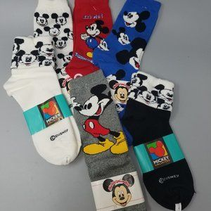 NEW - Mickey Mouse 9-11 Ankle, Crew & Cuff Socks